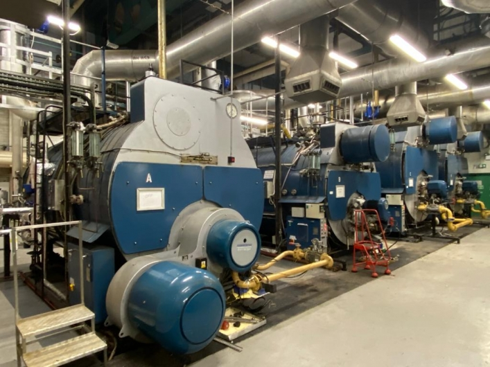 Cochran Steam Boilers x 4 - each is gas fired with oil backup