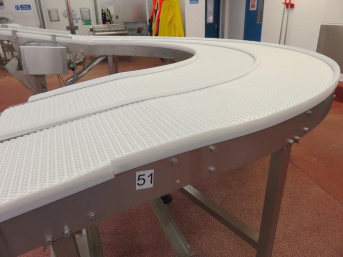 180 degree Intralox Belt Conveyor