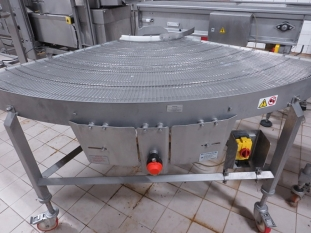 WireBelt Company Conveyor 180 Degree Bends / Turns